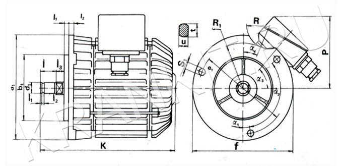 Электродвигатели AЕ для механизма перемещения канатных электротельферов