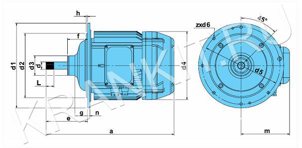 Электродвигатели КГ для механизма подъема канатных электротельферов