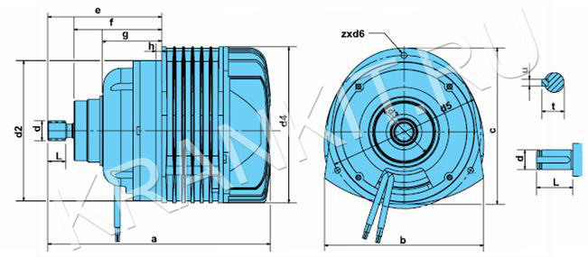 Электродвигатели КГ - AI для механизма подъема цепных электротельферов