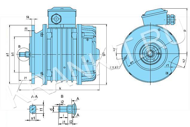 Электродвигатели ККЕ для механизма перемещения канатных электротельферов