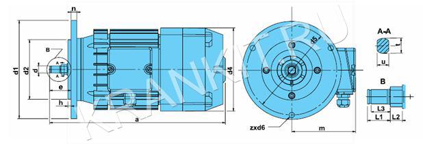 Электродвигатели ККТ для механизма перемещения канатных электротельферов