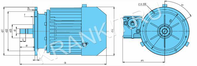 Электродвигатели KV-Ех для механизма подъема канатных электротельферов серия VHVAT