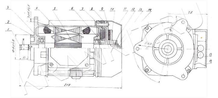 Электродвигатели МА для механизма перемещения канатных электротельферов