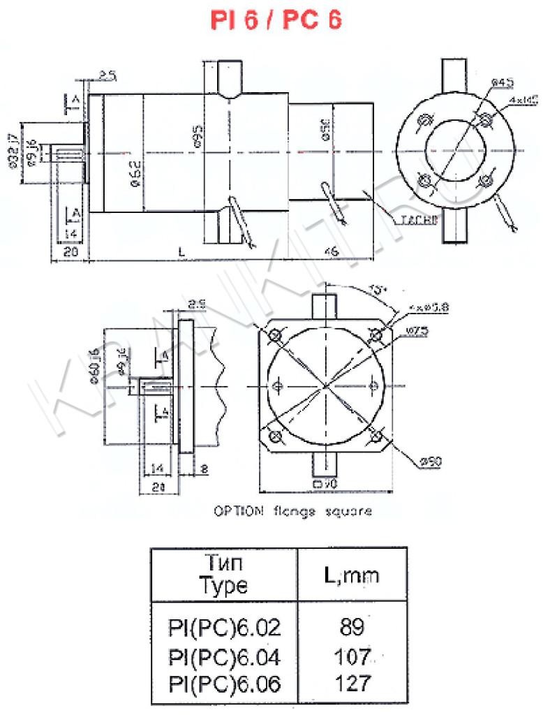 Электродвигатели серии PI, PC, 3PI